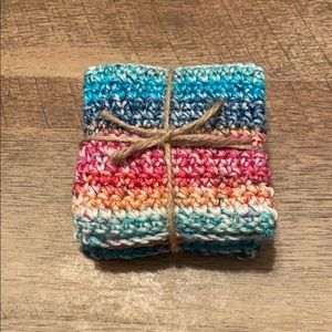 Other - New Crocheted Multicolored Washclothes